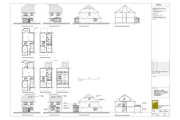 White Hart Close elevation and floor plans