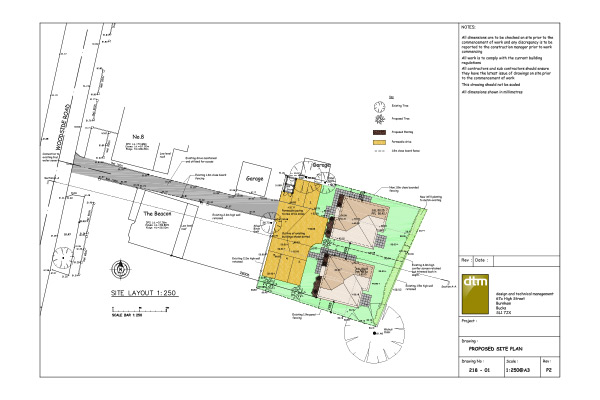 Woodside site layout